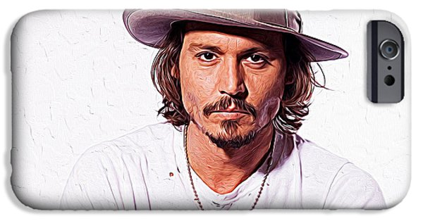 Mad Hatter iPhone Cases - Johnny Depp iPhone Case by Queso Espinosa