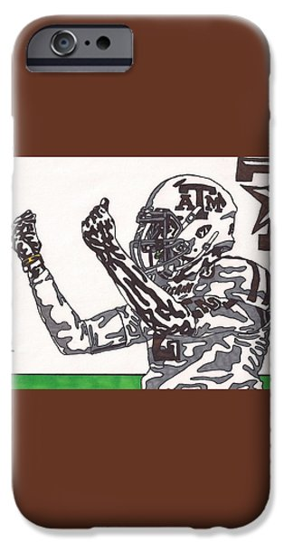 Johnny Manziel 10 Change The Play iPhone Case by Jeremiah Colley