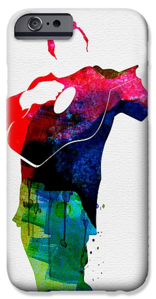 Gig iPhone Cases - Johnny Watercolor iPhone Case by Naxart Studio