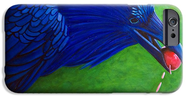 Raven iPhone Cases - Joie De Vivre iPhone Case by Brian  Commerford