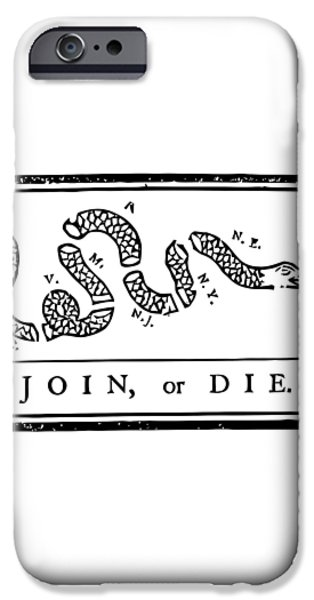 Join or Die iPhone Case by War Is Hell Store