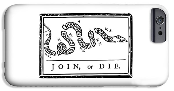 4th July Mixed Media iPhone Cases - Join or Die iPhone Case by War Is Hell Store