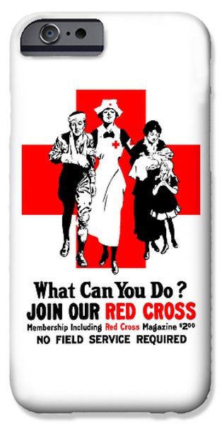 Nurse iPhone Cases - Join Our Red Cross iPhone Case by War Is Hell Store