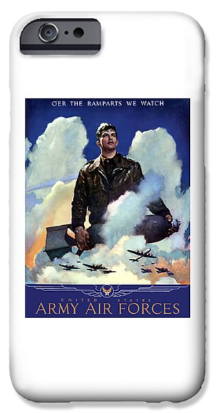 Air iPhone Cases - Join The Army Air Forces iPhone Case by War Is Hell Store
