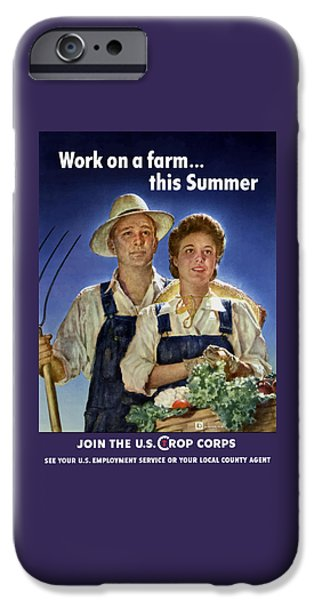 Crops iPhone Cases - Join The U.S. Crop Corps iPhone Case by War Is Hell Store