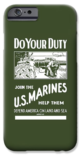 Marine iPhone Cases - Join The US Marines iPhone Case by War Is Hell Store