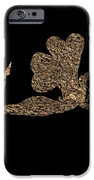 Angel Blues iPhone Cases - Joining Two Hearts Fairy PB iPhone Case by Valerie Christopher