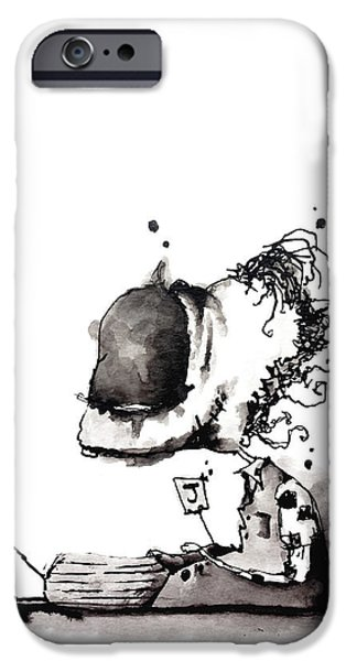 Abnormal Drawings iPhone Cases - Joker iPhone Case by Nick Watts