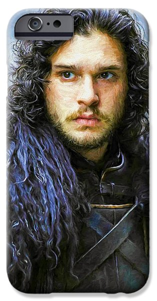 Celebrities Art iPhone Cases - Jon Snow II - Game Of Thrones iPhone Case by Nikola Durdevic