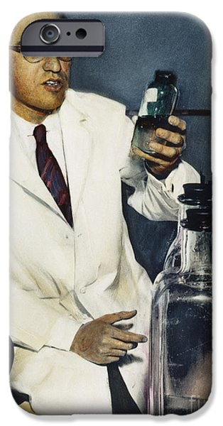 1950s Portraits iPhone Cases - Jonas Salk (1914-1995) iPhone Case by Granger