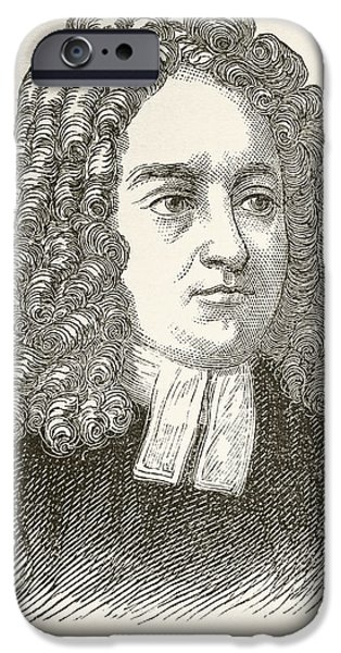Gullivers iPhone Cases - Jonathan Swift 1667 To 1745. Anglo iPhone Case by Ken Welsh