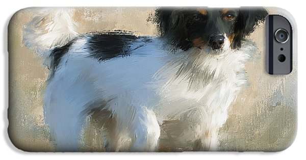 Puppies iPhone Cases - Jordan iPhone Case by Diane Chandler