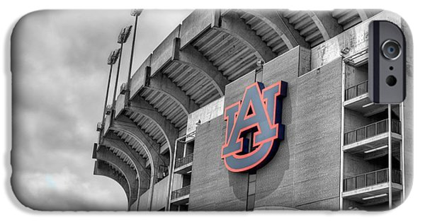 Auburn iPhone Cases - Jordan Hare iPhone Case by JC Findley