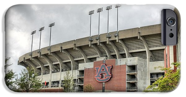 Jordan iPhone Cases - Jordan Hare Stadium iPhone Case by JC Findley