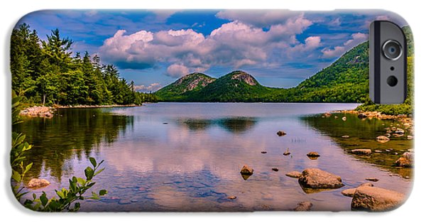 Maine iPhone Cases - Jordan pond - Acadia National Park iPhone Case by Claudia Mottram
