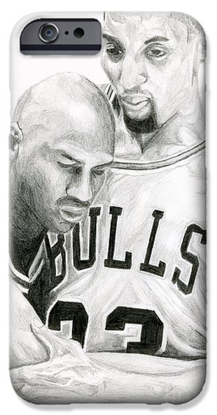 Michael Drawings iPhone Cases - Jordan Will To Win iPhone Case by Tamir Barkan