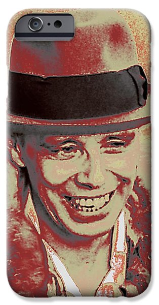 Celebrities Art iPhone Cases - Josef Beuys iPhone Case by Jean-Marie Bottequin