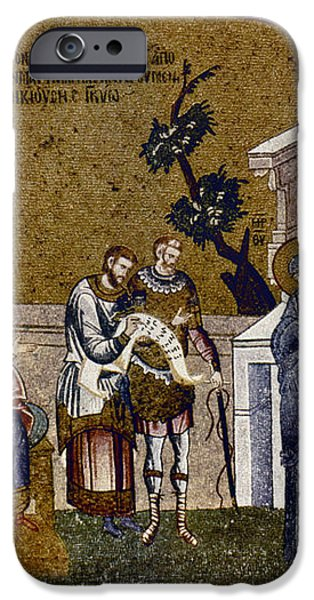 JOSEPH AND MARY iPhone Case by Granger
