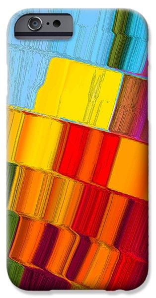 Quilt Blue Blocks iPhone Cases - Joseph Quilt iPhone Case by Adria Trail