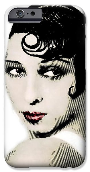 African-american Drawings iPhone Cases - Josephine Baker drawing and engraving iPhone Case by Joaquin Abella