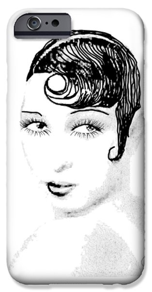 African-american Drawings iPhone Cases - Josephine Baker pencil iPhone Case by Joaquin Abella