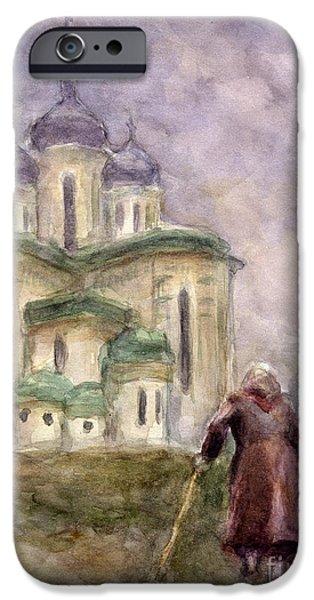 Religious Drawings iPhone Cases - Journey iPhone Case by Svetlana Novikova