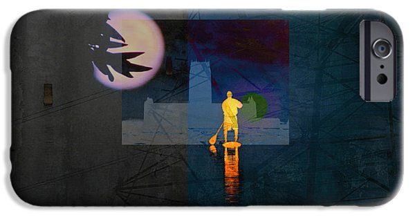 Inner Self iPhone Cases - Journey Through Muddy Waters iPhone Case by Robert Ball
