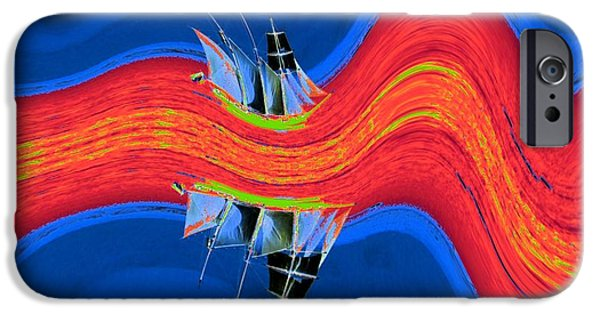 Tall Ship iPhone Cases - Journey to the Centre of the Earth iPhone Case by Lorles Lifestyles