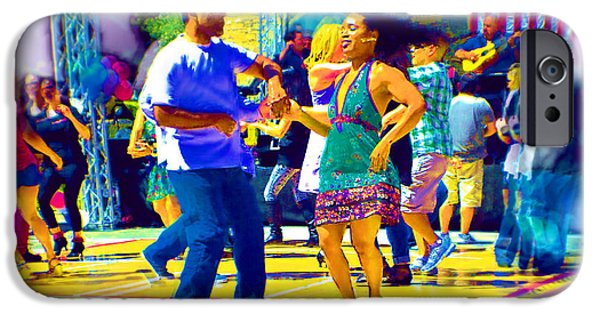 Women Together iPhone Cases - Joy of the Dance iPhone Case by Cindy Nunn