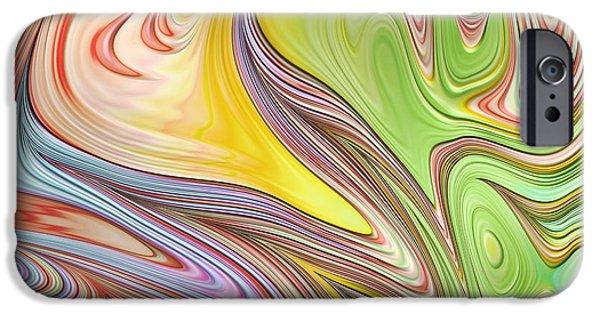 Fractal iPhone Cases - Joyful Flow iPhone Case by John Edwards