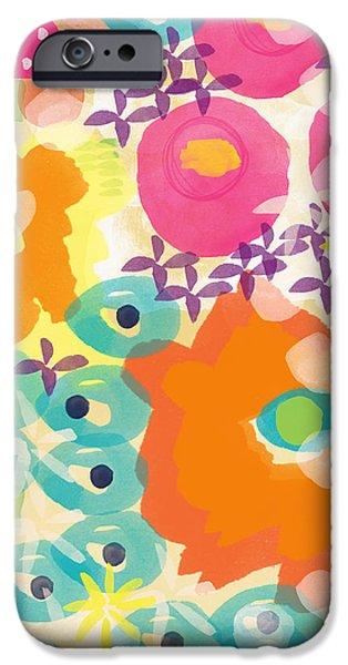 Summer Weddings iPhone Cases - Joyful Garden iPhone Case by Linda Woods
