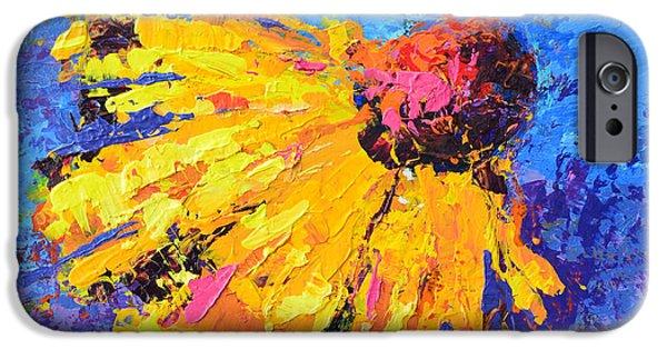 Vivid Colour Paintings iPhone Cases - Joyful Reminder iPhone Case by Patricia Awapara