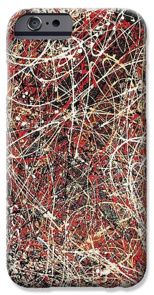Abstracted Tapestries - Textiles iPhone Cases - J.p. iPhone Case by Morgan Broker