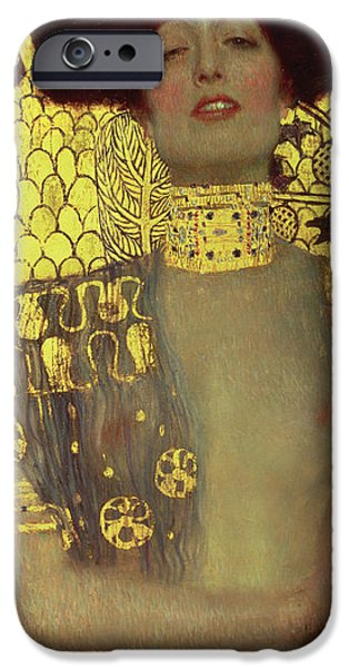 Seductive iPhone Cases - Judith iPhone Case by Gustav Klimt