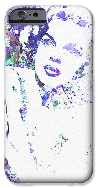 Movie Star iPhone Cases - Judy Garland iPhone Case by Naxart Studio