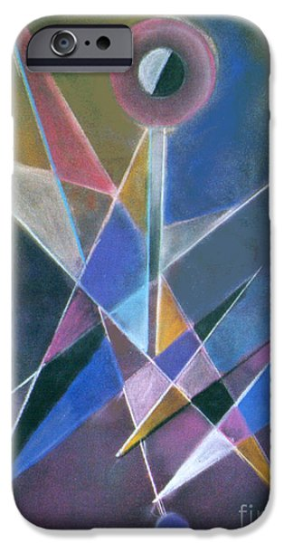Abstractions Pastels iPhone Cases - Juggler iPhone Case by Caroline Peacock