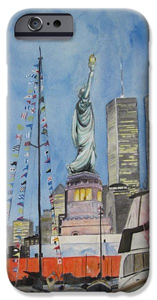 4th July Paintings iPhone Cases - July 4th iPhone Case by Judy Riggenbach
