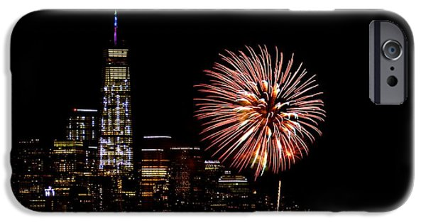 Empire State iPhone Cases - July 4th iPhone Case by MingTa Li