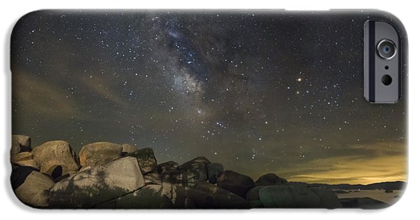 July iPhone Cases - July Skies in Tahoe iPhone Case by Jeremy Jensen