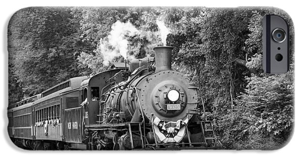 4th July Photographs iPhone Cases - July Steam Train iPhone Case by Linda Troski