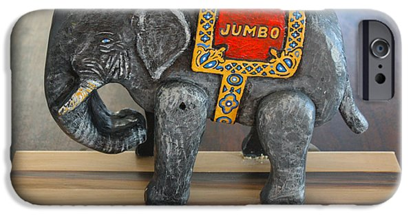 Elephant Sculptures iPhone Cases - Jumbo the Elephant iPhone Case by James Neill