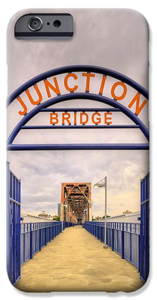 Arkansas iPhone Cases - Junction Bridge Little Rock iPhone Case by JC Findley