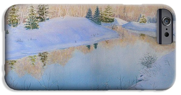 Winter Scene Pastels iPhone Cases - Junction Creek iPhone Case by Lynn Quinn