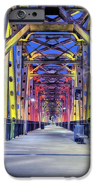 Arkansas iPhone Cases - Junction Pedestrian Bridge iPhone Case by JC Findley