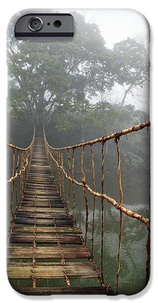 Mysteries iPhone Cases - Jungle Journey 2 iPhone Case by Skip Nall