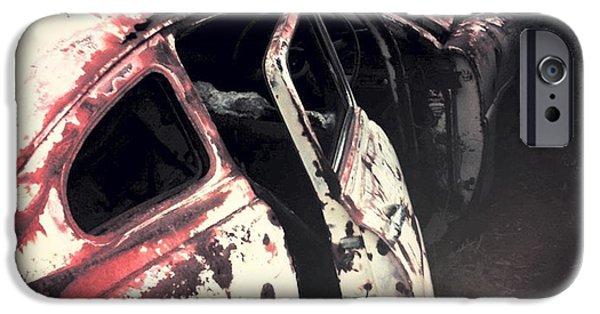 Rust iPhone Cases - Junkyard iPhone Case by Kelly Jade King