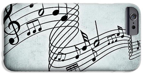 Sheets Drawings iPhone Cases - Just A Melody iPhone Case by Alexas Fotos