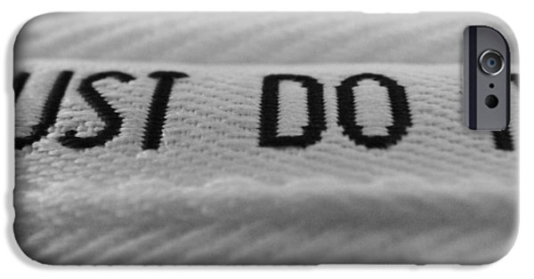 Jogging iPhone Cases - Just Do It iPhone Case by Hunter Huebsch