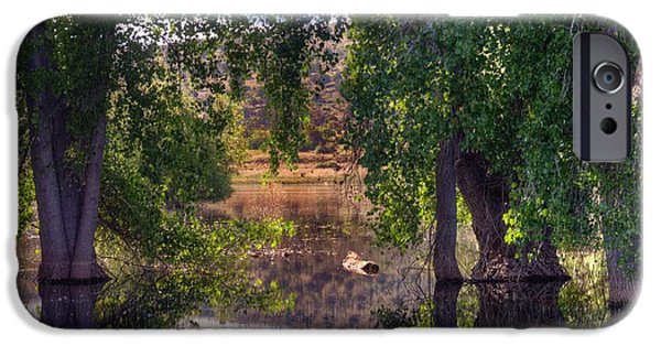 Watson Lake iPhone Cases - Just Drifting iPhone Case by Thomas  Todd