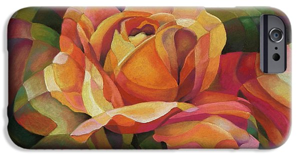 Mosaic Pastels iPhone Cases - Just Friends iPhone Case by Marilyn Callahan